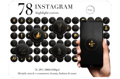78 Instagram stoty highlights icons