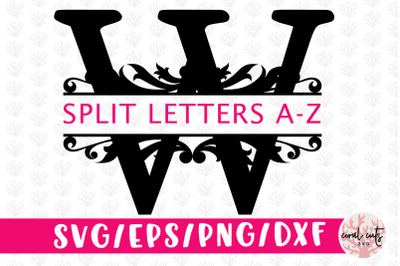 Split Monogram Cut Files - Svg EPS DXF PNG File