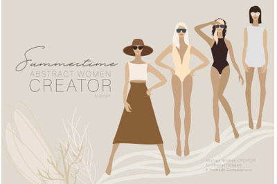 Summertime. Abstract women CREATOR