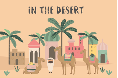 In the Desert-camels