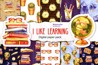 I like learning - seamless patterns
