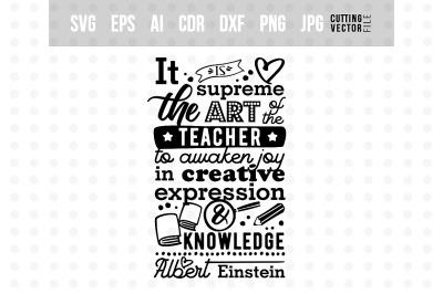 Art of the teacher - Einstein's Quote