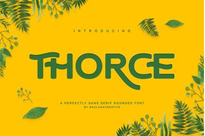 Thorce Rounded Sans Font