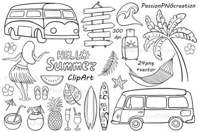 Doodle Summer clipart