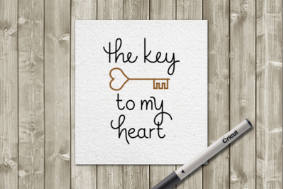 Key to my Heart Sketch for Pens | SVG | PNG | DXF