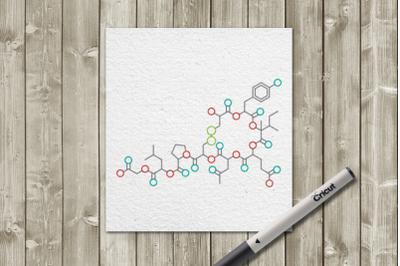 Oxytocin Single Line Sketch for Pens | SVG | PNG | DXF