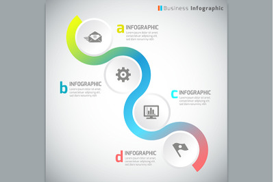 Business infographic template - Vector Illustration
