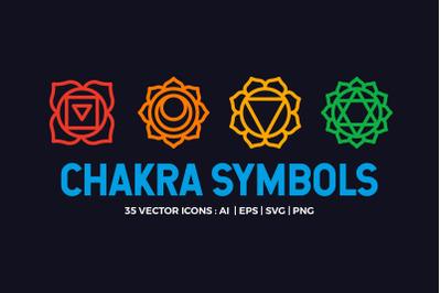 Chakra Symbols Set Vector espiritual