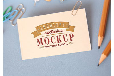 Photorealistic mock-ups with pencils on background