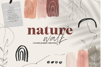 Nature Walk Collection - Watercolor & Botanical Illustrations