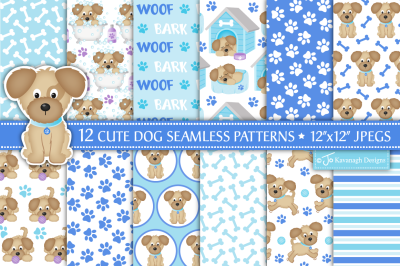 Dog digital paper, Dog patterns, Cute dogs -P40