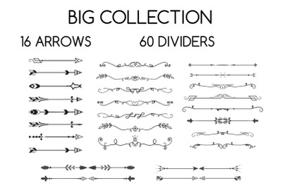 Dividers and arrows collection