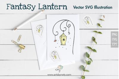 Fantasy Lantern SVG Vector Illustration.