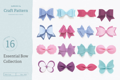 Essential Bow Template Bundle - SVG, DXF, EPS, JPEG, PDF