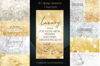 """Luxury"" pack for social media, websites and other creative projects"