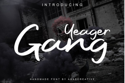 Yeager Gang Modern Script