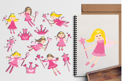 Pink Fairy Illustrations