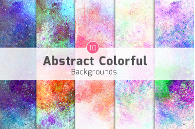 10 Abstract colorful background