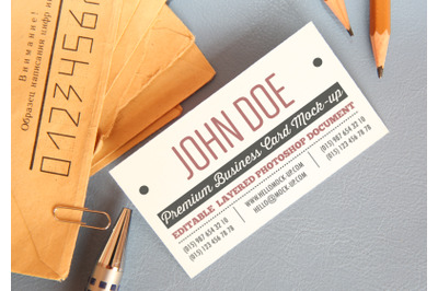 Business card template Mock-ups
