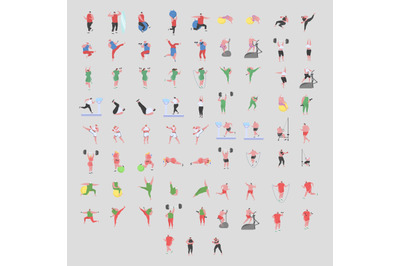 Fitness Activity Characters
