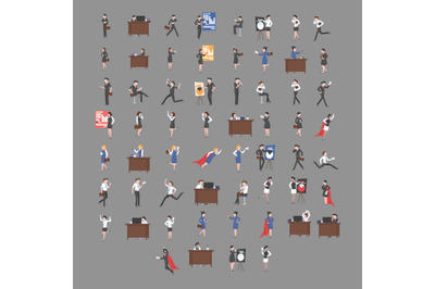 Office Worker Activity Characters