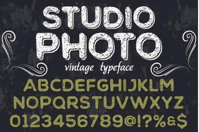 vintage handcrafted typeface alphabet vector label design