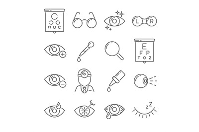 Optometry eyes health and oculist tools. Medical laser eye surgery, ey