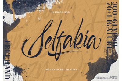 Selfakia | Brush Font