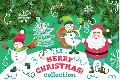 Merry Christmas collection. Images and patterns