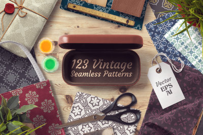 123 Vintage Seamless Vector Patterns