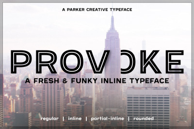 Provoke Inline Font