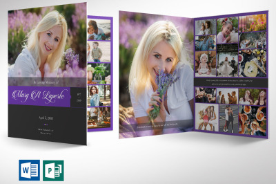 Remember Me Funeral Program Word Publisher Large Template - 8 pages