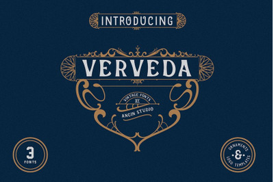 Verveda ( 3 fonts with extras)