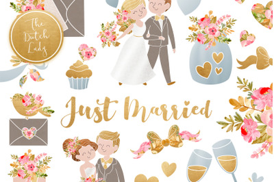 Wedding Day & Marriage Clipart Set