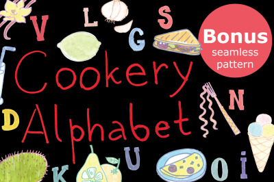 Cookery alphabet-watercolor markers