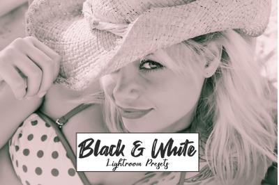 Black and White Lightroom Presets