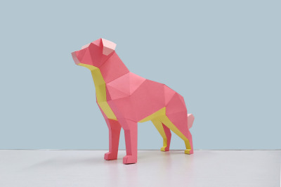 DIY Golden retriever dog - 3d papercraft
