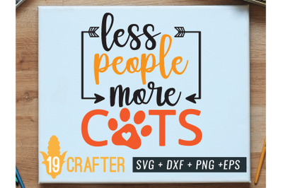 less people more cats svg cut file