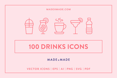 Line Icons  Drinks