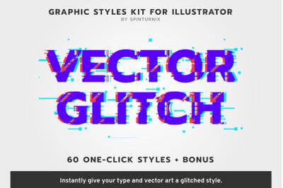 VectorGlitch |  Illustrator Styles + Bonus