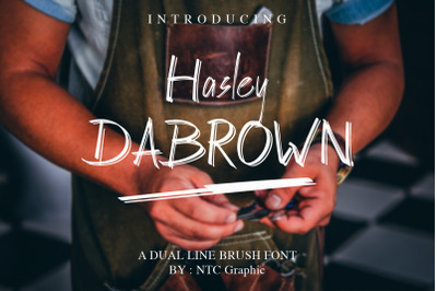 Hasley Dabrown Dual line HandbrushFont