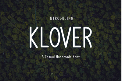 Klover - Casual Handmade Font