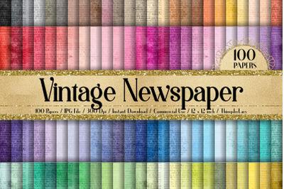 100 Vintage Newspaper Ads Ephemera Old Texture Digital Papers