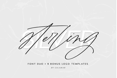 Sterling Silver Font Duo