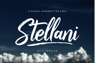 Stellani // a Casual Handwritting Font