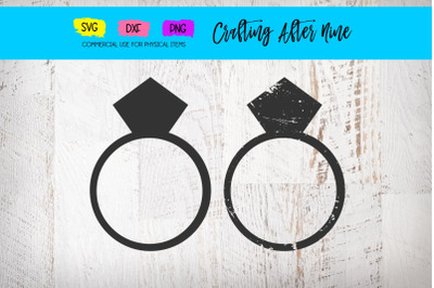 Distressed Ring Svg, Ring Bundle Svg, Grunge Ring Svg, Diamond Ring Sv