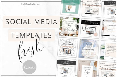 Canva Fresh Social Media Templates
