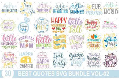 Best Quotes SVG Bundle Vol-02