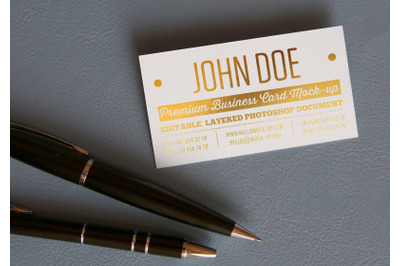 Business card template  Gold Mock-up