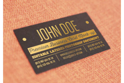 Business card template Gold Mock-ups
